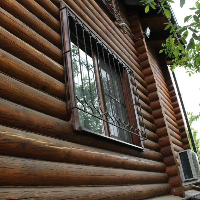 Срубы домов до и после реставрации